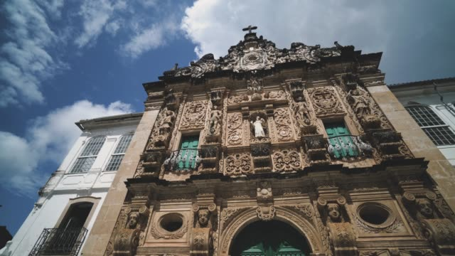 The facade of the São Francisco convent in Salvador da Bahia, Brazil