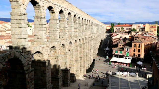 The famous ancient aqueduct in Segovia, Castilla y Leon, Spain video