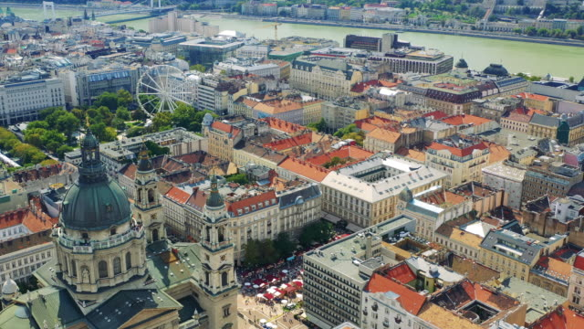The famous Basilica in central Budapest The famous Basilica in central Budapest on a sunny summer day hungary stock videos & royalty-free footage