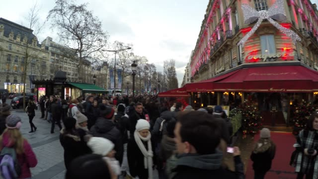 The famous Champs Elysees in Paris, France