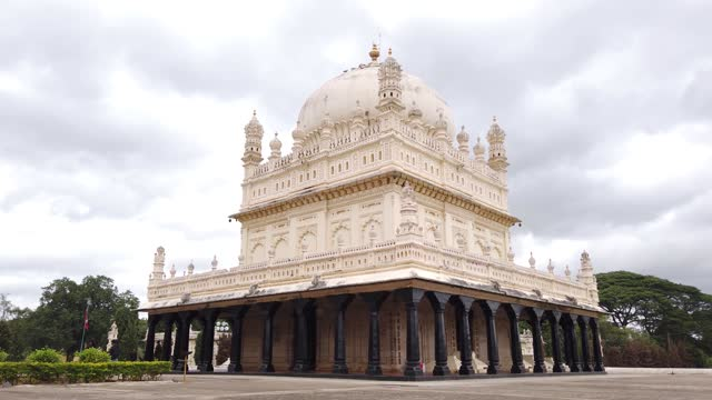 The famous Islamic architecture 'Gol Gumbaz' is a Memorial of Islam ruler Tipu Sultan built over two centuries ago at Srirangapatna in Karnataka, India.