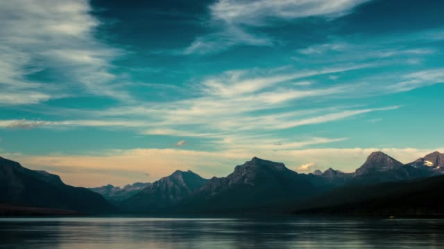 The Famous Lake McDonald in Glacier national park in Full HD Time Lapse