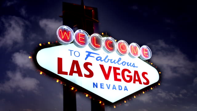 The Famous Las Vegas sign, USA video