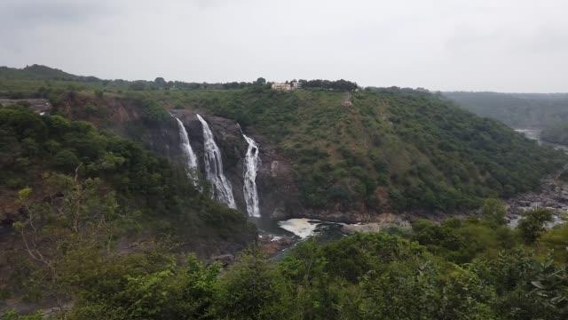 The famous Shimsha waterfall at Shivanasamudra in Karnataka/India.