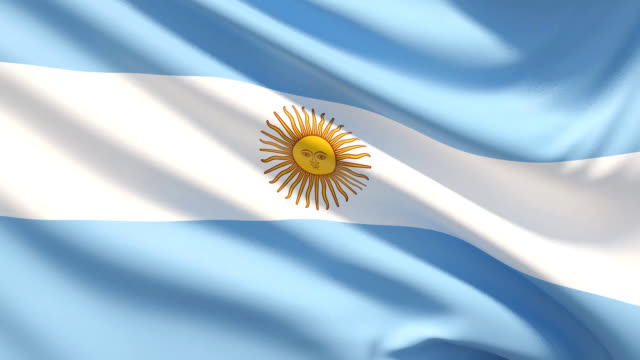 the flag of argentina - bandiera dell'argentina video stock e b–roll