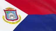 istock The flag of St. Martin loop 1296976175