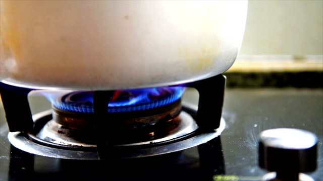 The flame of a natural gas stove. video
