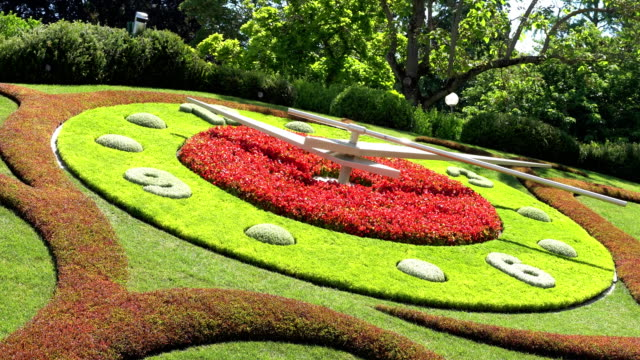 GENEVA, SWITZERLAND : The flower clock in Geneva. video