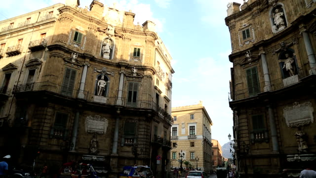 The Four Corners (Quattro Canti square) Palermo Sicily Italy video