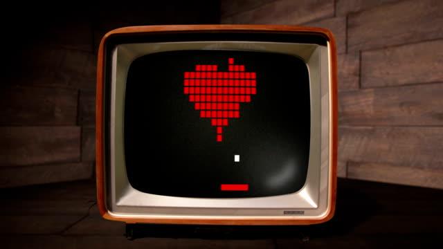 Le jeu de l'amour comme un style rétro jeux d'ordinateur - Vidéo