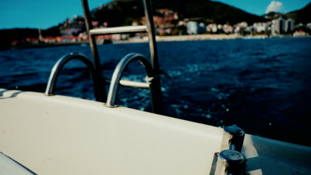 The gangway of the boat in Montenegro video