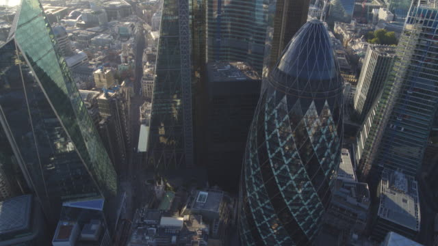 the gherkin and london city - london architecture stock videos & royalty-free footage