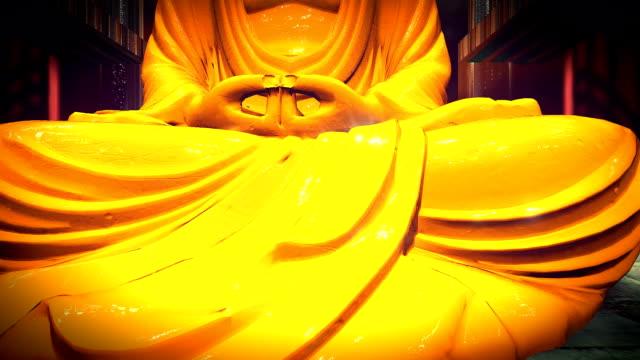 The Golden Buddha statue in a shrine video