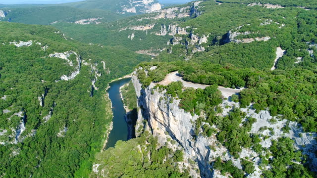 The gorges of the Ardèche views from the sky