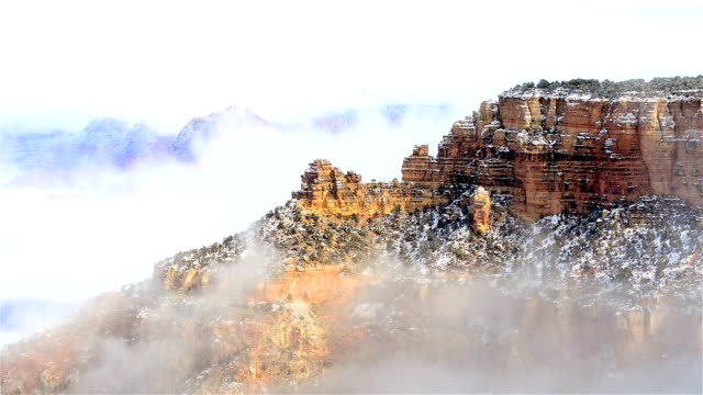 The Grand canyon national park in clouds video