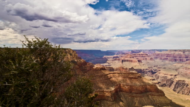 the grand canyon timelapse day with clouds (slider) - nevada video stock e b–roll