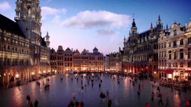 大比利時布魯塞爾的地方 - 廣場 個影片檔及 b 捲影像