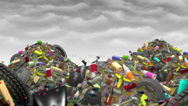 The Great Garbage Dump. 3D animation, seamless loop. video