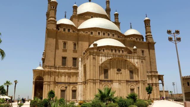 The Great Mosque of Muhammad Ali Pasha in the Citadel of Cairo in Egypt video