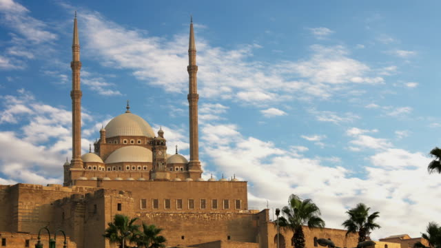 The great Mosque of Muhammad Ali Pasha or Alabaster Mosque. Egypt. Time Lapse. video