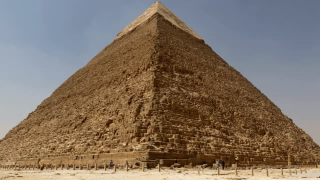 The Great pyramid with camel in Giza, Egypt video