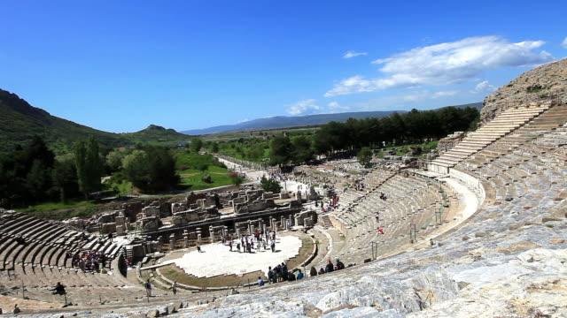 素晴らしい劇場エフェソス - プリエネ点の映像素材/bロール