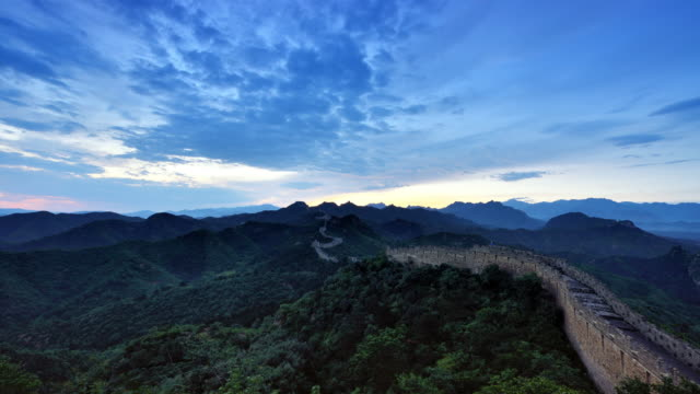 4K: The Great Wall of China, Dawn To Day Time Lapse video