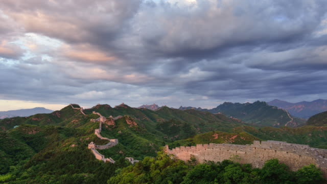 The great wall of China, Day To Night Time Lapse video