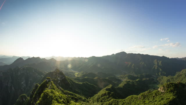 The Great Wall of China day to stars timelapse video