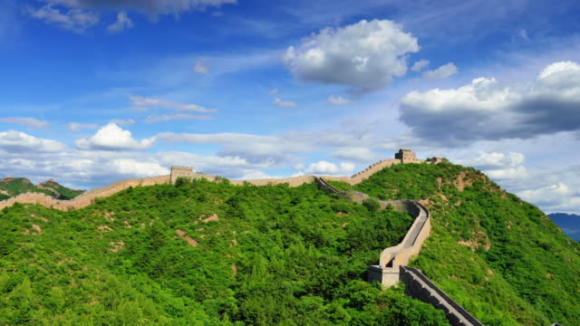 The great wall of China in the sunny day, Time lapse video