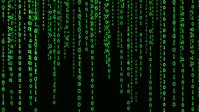 the green matrix on a black background. - spyware video stock e b–roll