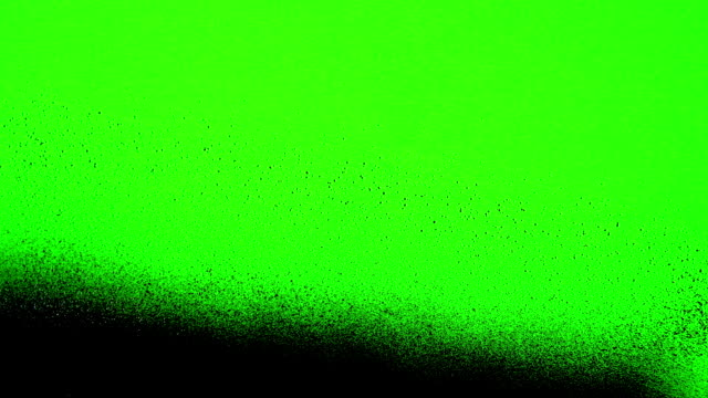 The Green Screen is Painted Over by Spray Black Paint video