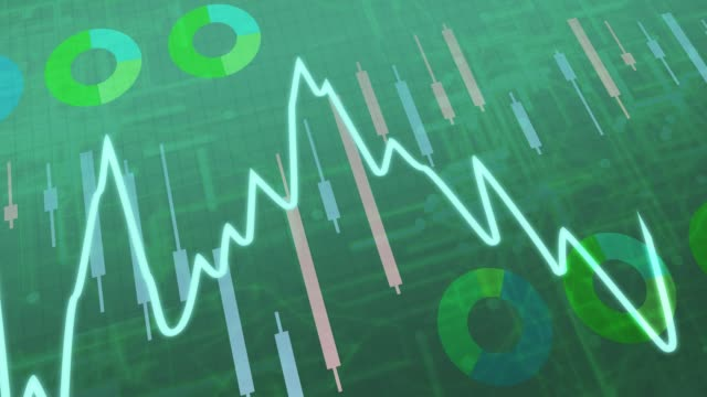 The green stock price linked chart