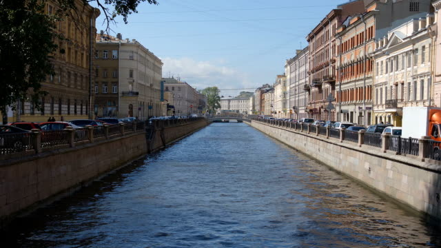 The Griboedov channel in the summer - St Petersburg, Russia video