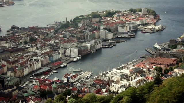 vídeos y material grabado en eventos de stock de el puerto de bergen, desde floyen - bergen