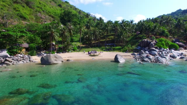 the hidden paradise beach in phuket - phuket video stock e b–roll