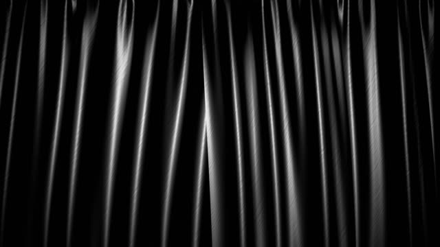 The high-quality black curtain opens