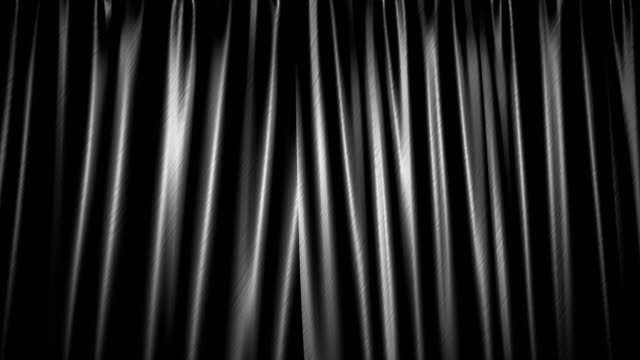 The high-quality black curtain opens (+ alpha channel)