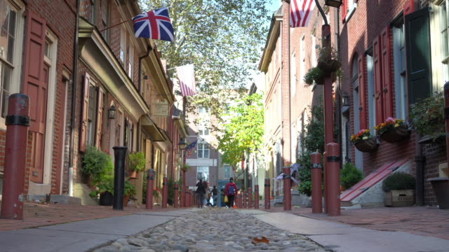 The historic old city in Philadelphia, Pennsylvania