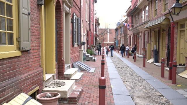 歴史的な旧市街でフィラデルフィア - 煉瓦点の映像素材/bロール