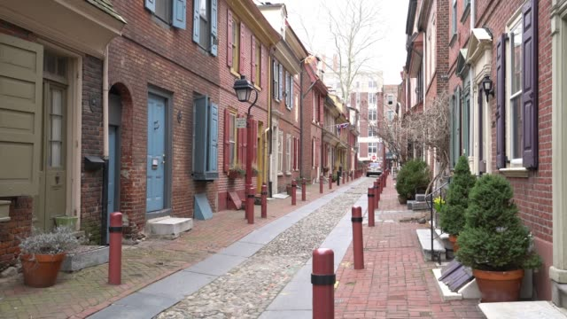 The historic Old City in Philadelphia video
