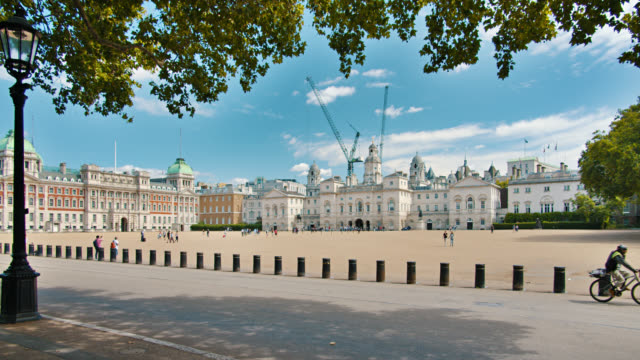 The Household Cavalry Museum, Horse Guards Parade. London. Tree. Typical old city