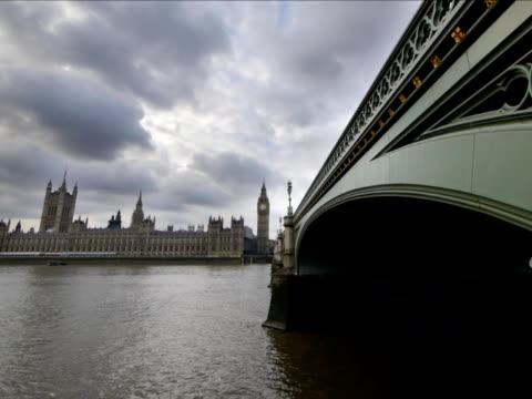 The Houses of Parliament, UK. Westminster Bridge video