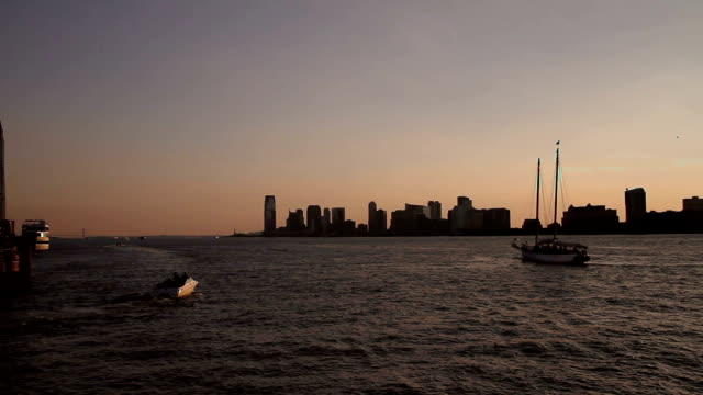 The Hudson river and Jersey City video