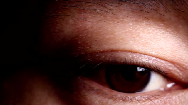 The human eye close-up. Approximation of the pupil. video