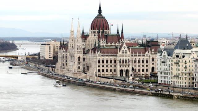 The Hungarian parliament building at winter time