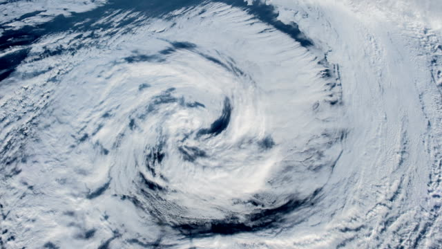 The hurricane over the ocean., satellite view. Hurricane Storm, satellite view. Elements of this image furnished by NASA meteorology stock videos & royalty-free footage