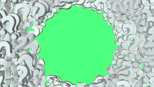 tanken på att animera en frågesymbol. - tema bildbanksvideor och videomaterial från bakom kulisserna