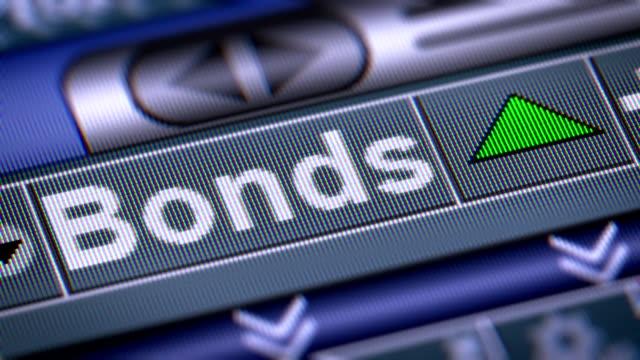 der index der anleihen auf dem bildschirm. - börsenhandel finanzberuf stock-videos und b-roll-filmmaterial