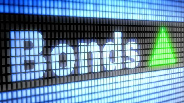 stockvideo's en b-roll-footage met de index van de obligaties op het scherm. - aandelen